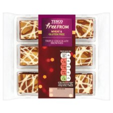 Tesco Free From Triple Chocolate Brownie Bites 9 Pack