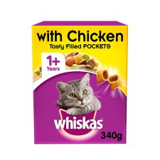 image 1 of Whiskas 1+ Chicken Dry Cat Food 340G