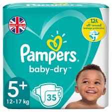 image 1 of Pampers Baby Dry Size 5+ Essential Pack 35 Nappies