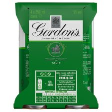 image 2 of Gordon's With Schweppes Gin And Tonic 4X250ml