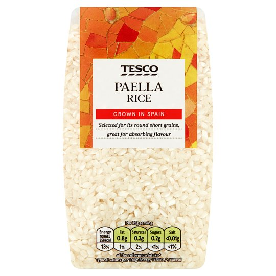Tesco Ingredients Spanish Paella Rice 500G