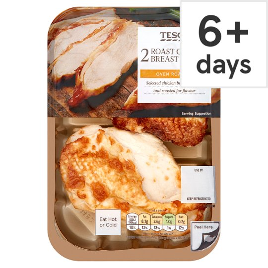 Tesco 2 Roast Cooked Chicken Breast Fillets 245 G