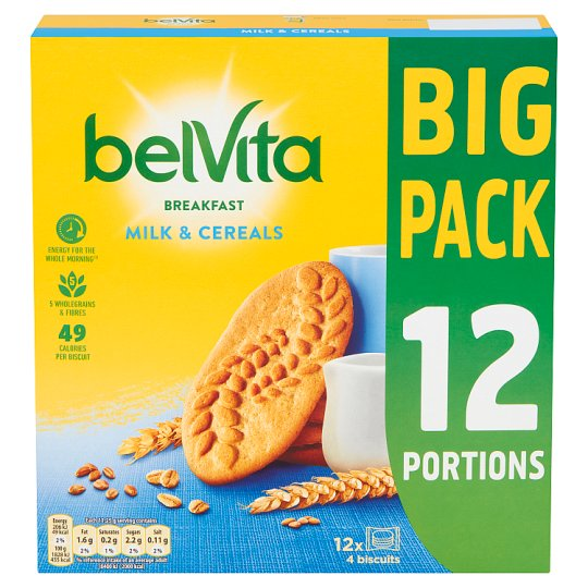 image 1 of Belvita Milk And Cereal Biscuits 12 Pack 540G