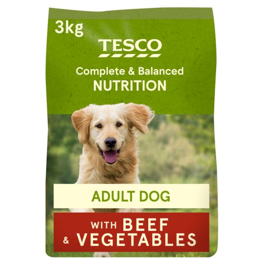 Tesco Beef And Country Vegetable Dry Dog Food 3Kg