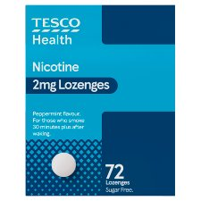 Tesco Nicotine 2Mg Lozenges 72S