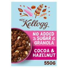 W.K Kellogg No Added Sugar Cocoa And Hazelnut Granola 550G