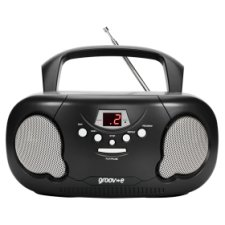 Groov-E Boombox Radio Cd Player Black