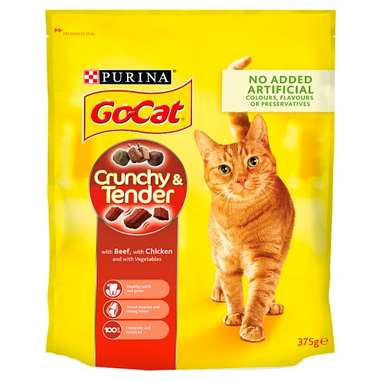 Go Cat Crunchy And Tender Beef,Ckn&Veg375g