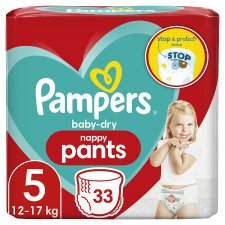 Pampers Baby Dry Pants Essential Pack Size 5 33 Nappies