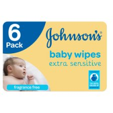 Johnsons Baby Wipes Extra Sensitive 6X56 Pack