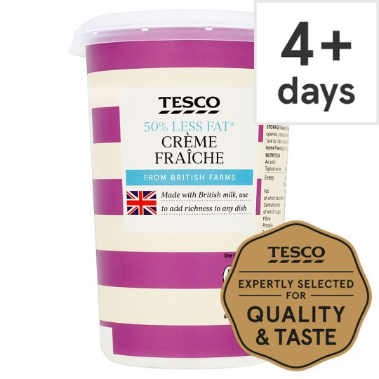Tesco 50% Less Fat Creme Fraiche 600Ml