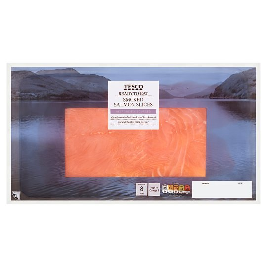Tesco Smoked Salmon Slices 300G