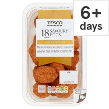 Tesco 18 Bitesize Mini Savoury Eggs 216G