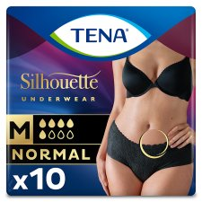 Tena Silhouette Bladder Weakness Medium Black Underwear 10Pcs