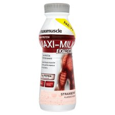 Maxi Milk Strawberry 500Ml Bottle