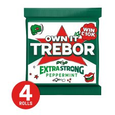 Trebor Extra Strong Peppermint 4 Pack 166G