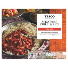 Tesco Beef Chilli And Rice 450G