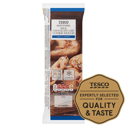 Tesco Ready To Bake Chocolate Chip Cookie Dough 300G