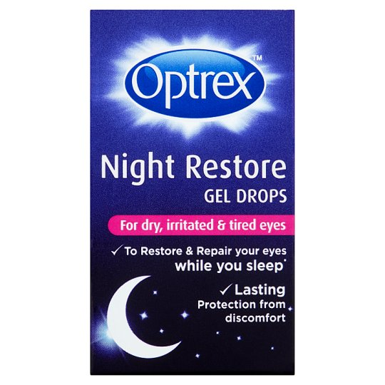 image 1 of Optrex Night Restore Eye Drops 10Ml