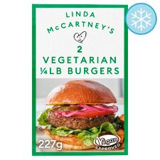 Linda Mccartney 2 Vegetarian Quarter Pounder Burgers 227G