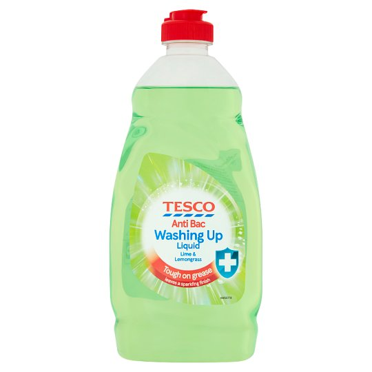 Tesco Antibacterial Washing Up Liquid Lime And Lemon 450Ml