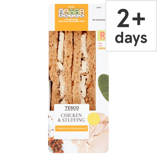 Tesco Roast Chicken And Stuffing Sandwich