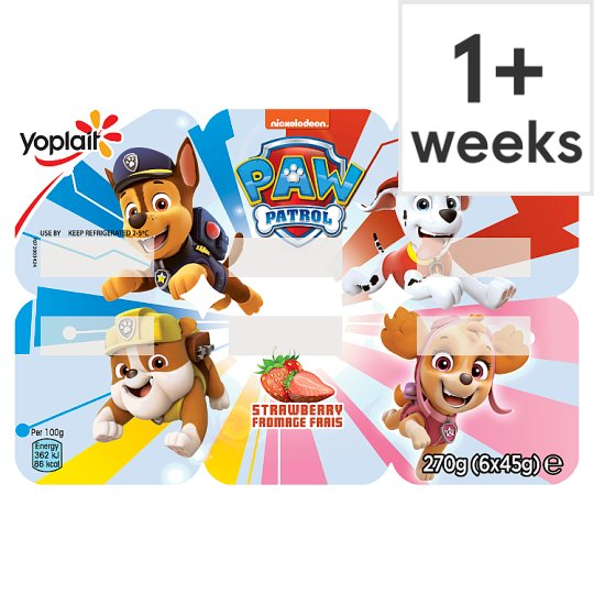 image 1 of Paw Patrol Strawberry Fromage Frais 6X45g