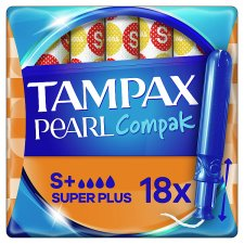 image 1 of Tampax Pearl Compak Super Plus Applicator Tampons 18