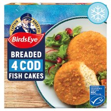 Birds Eye 4 Breaded Cod Cakes 198G
