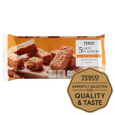 Tesco Oaty Flapjacks 5 Pack 170G