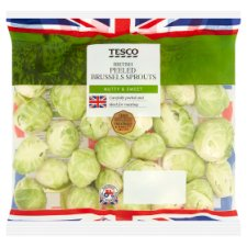 Tesco Peeled Brussels Sprouts 400G
