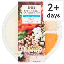 Tesco Greek Dip Selection 210G