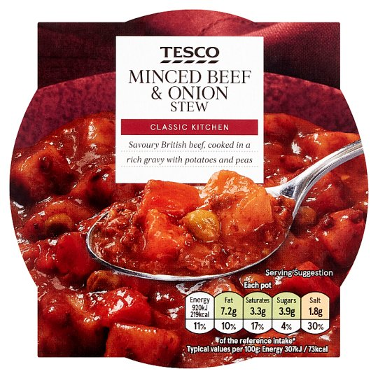 Tesco Minced Beef And Onion Stew 300G
