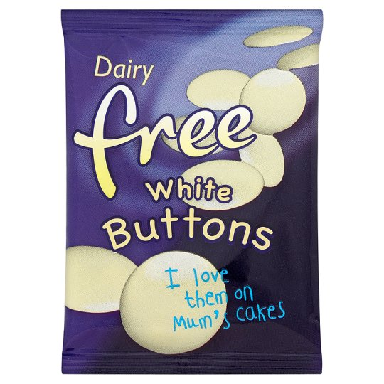 Dairy Free White Chocolate Buttons 25G
