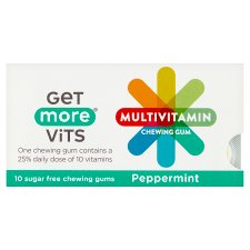 Get More Multi Vitamins Peppermint Chewing Gum 10 Pack