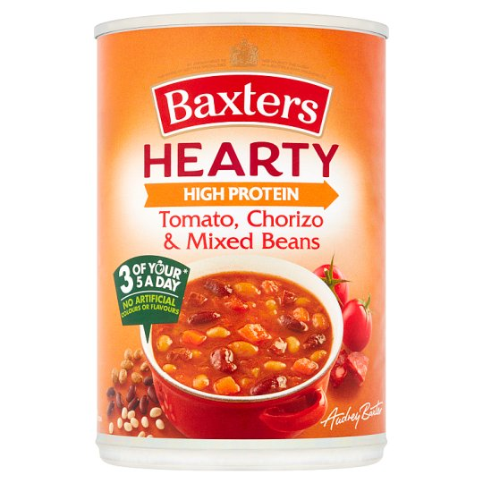 Baxters Hearty Tomato Chorizo And Mixed Bean Soup 400G
