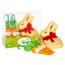 image 2 of Lindt Gold Milk Chocolate Easter Bunny And Carrot 140G