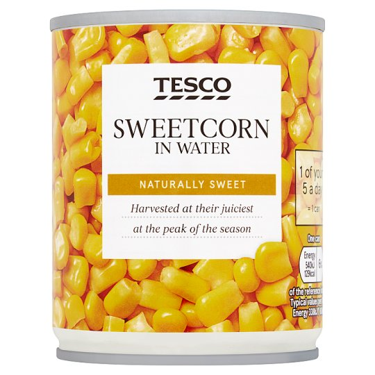 Tesco Naturally Sweet Sweetcorn 200G