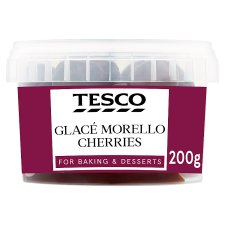 Tesco Morello Flavoured Glace Cherries 200G