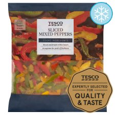 Tesco Sliced Mixed Peppers 500G
