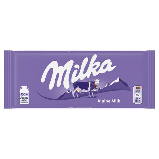 Milka Alpine Chocolate Bar 100G