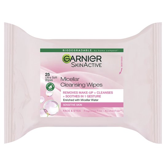 image 1 of Garnier Micellar Face Wipes Sensitive