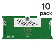 Gordon's With Schweppes Gin And Tonic 10X250ml