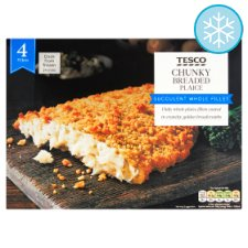 Tesco 4 Breaded Chunky Prime Plaice Fillets 500G