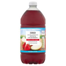 Tesco Double Concentrate Apple And Strawberry Squash No Added Sugar 1.5L