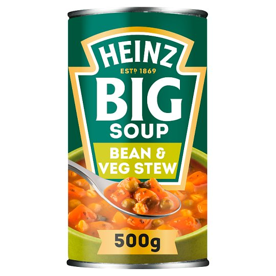 Heinz Big Vegetable And Bean Stew Soup 500G