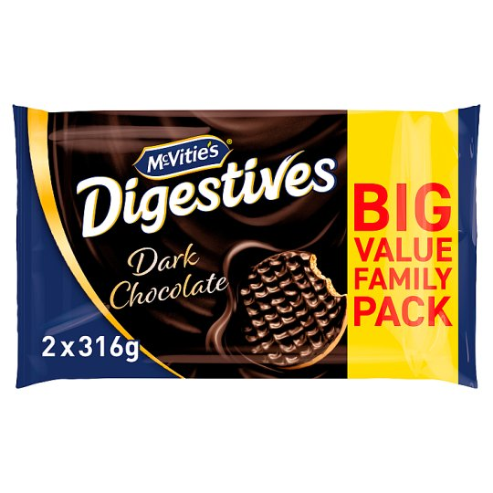 Mcvities Dark Chocolate Digestive Twin 2X316g