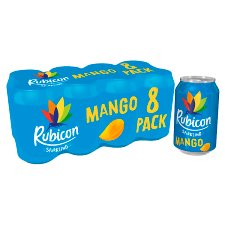 Rubicon Sparkling Mango Juice Drink 8 X330ml Cans