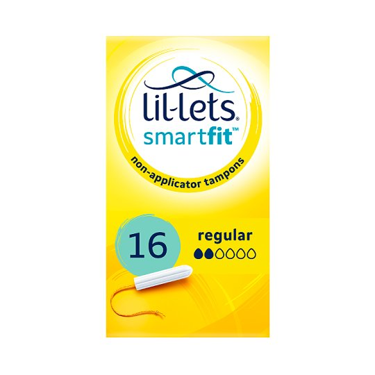 Lil Lets Non Applicator Regular Tampons 16 Pack