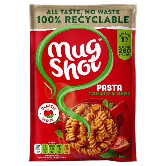 Mugshot Tomato And Herb Pasta 64G